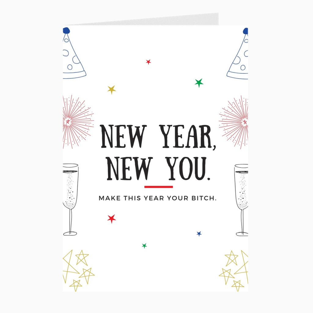 New Year, New You Card - Dearly Divorced