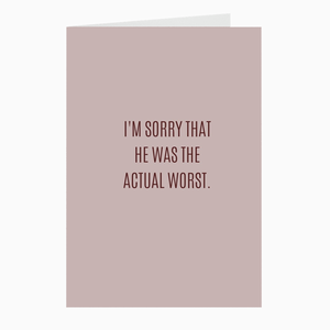 Actual Worst Card - Dearly Divorced