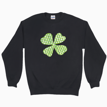 Load image into Gallery viewer, Plaid Shamrock Sweatshirt - Dearly Divorced
