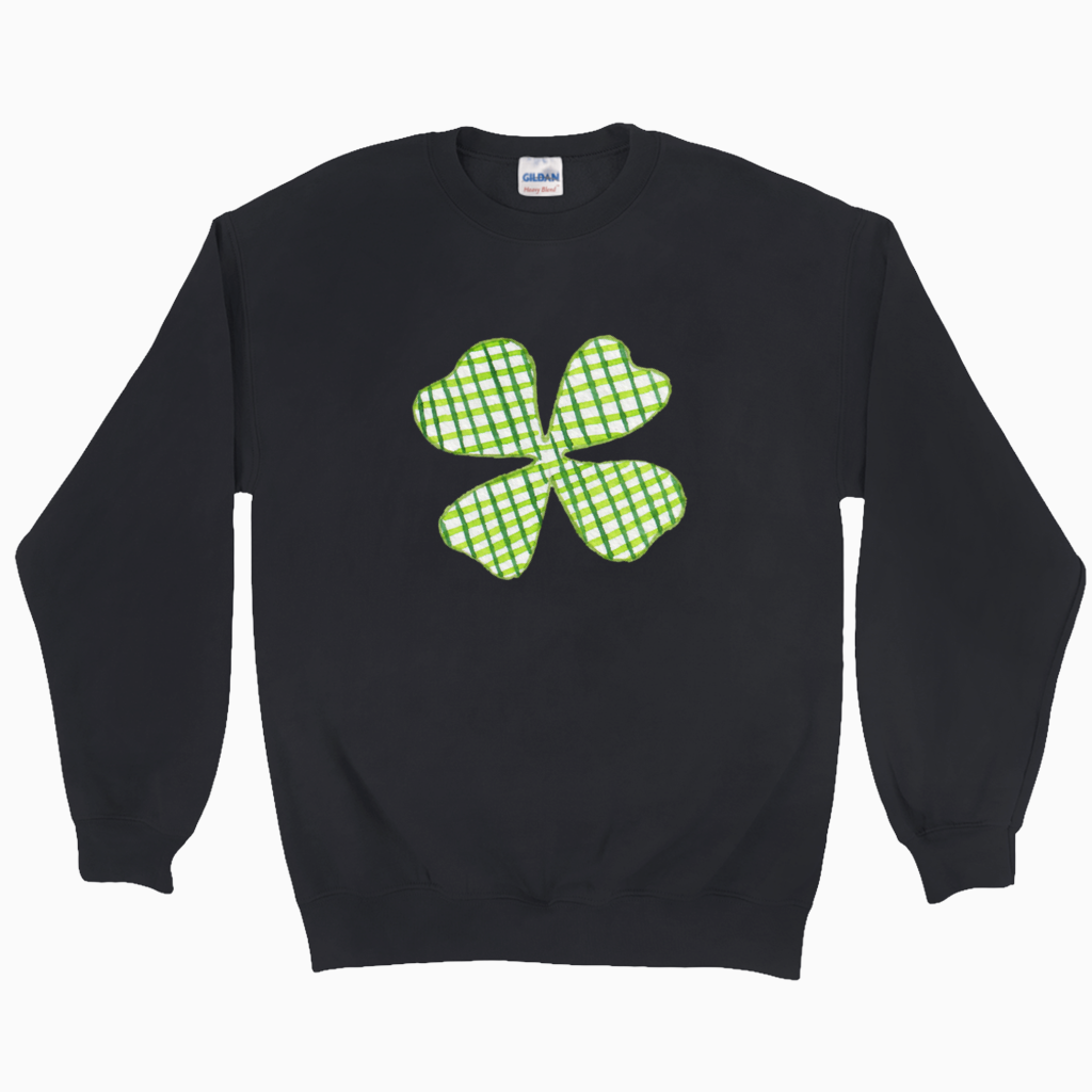Plaid Shamrock Sweatshirt - Dearly Divorced