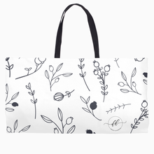 Load image into Gallery viewer, Drawn Floral Weekender Tote - Dearly Divorced