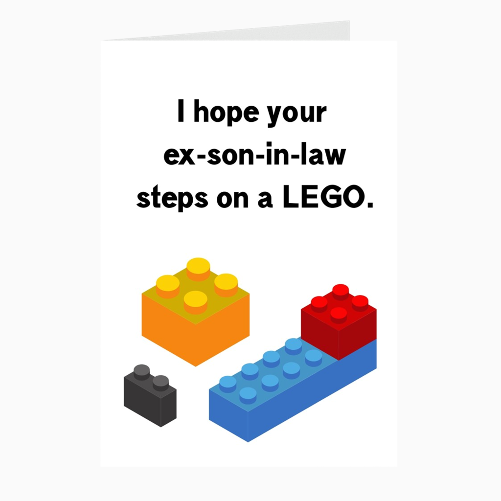 LEGO Card - Dearly Divorced