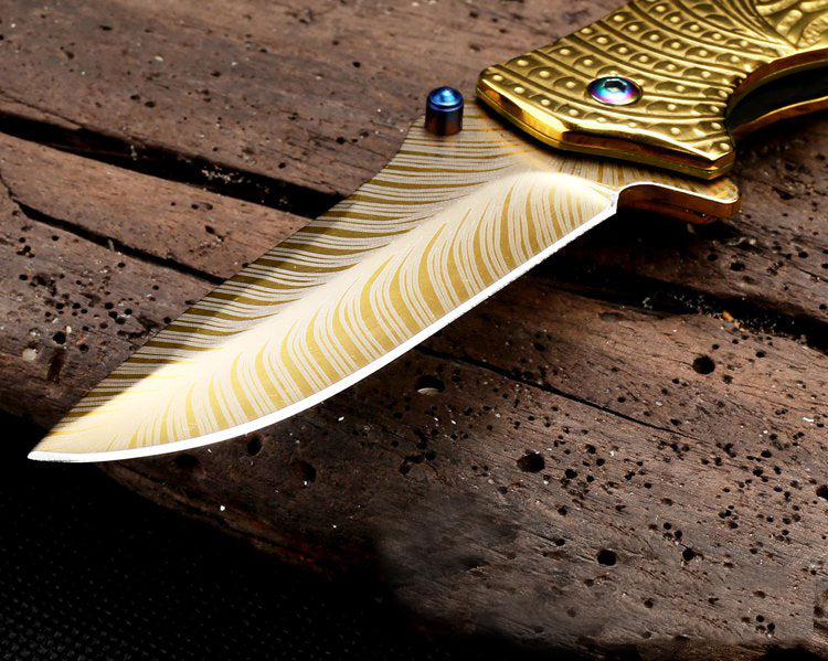 Elven Gold Flip Knife