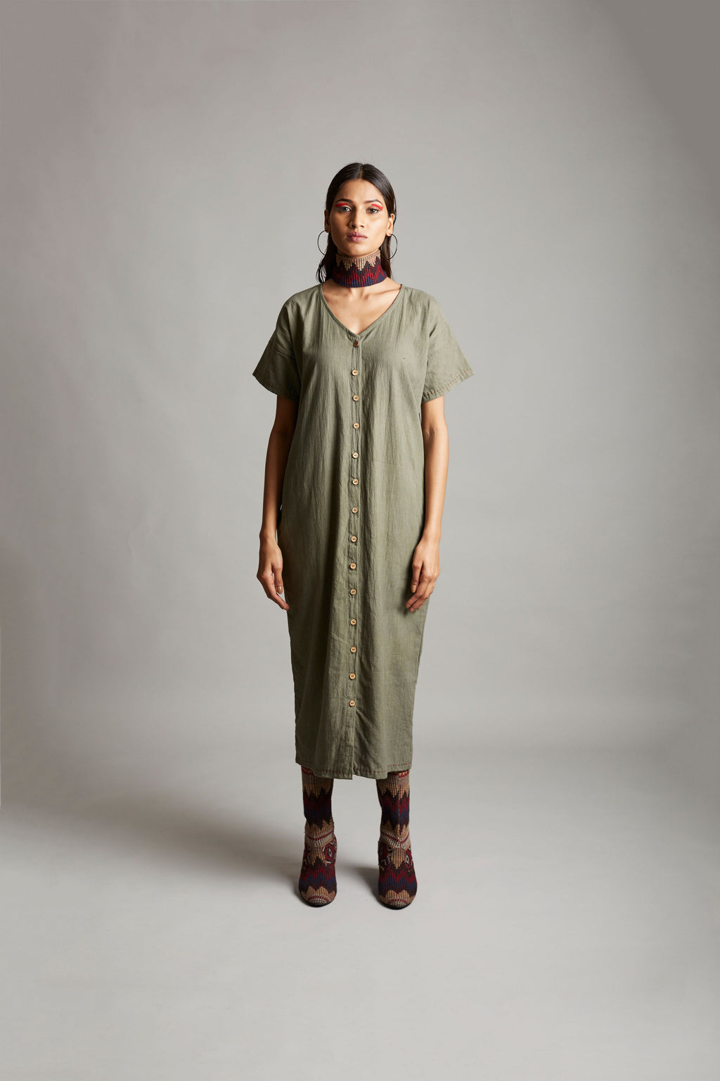 Efficacious Afterglow Half Sleeves Dress