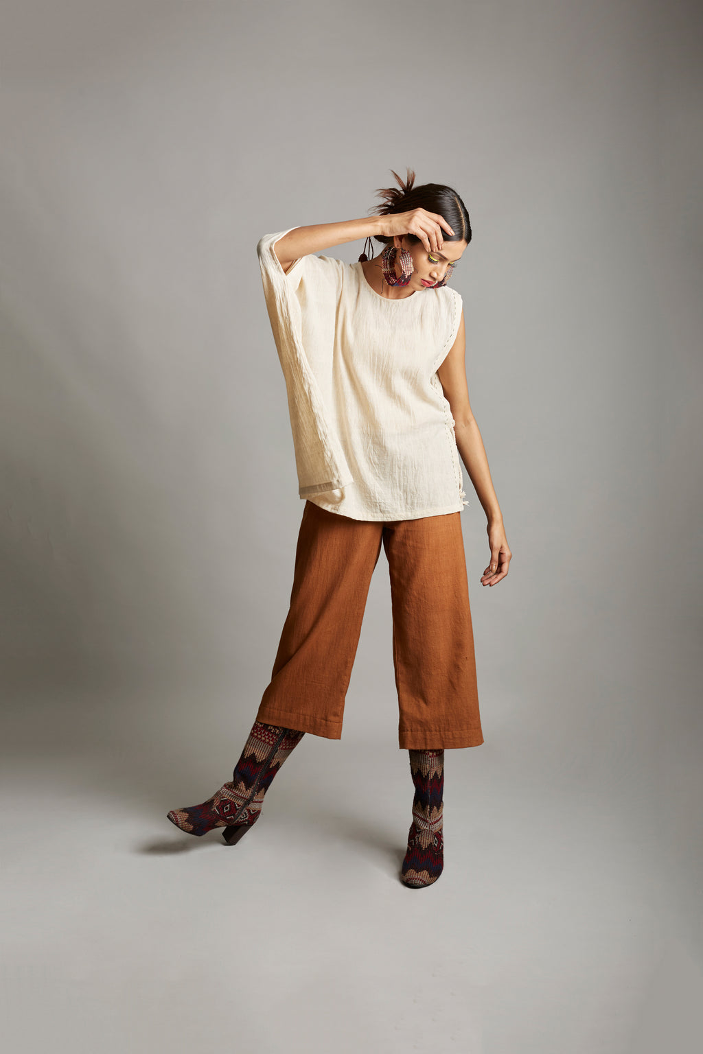 Sunlit Softness Asymmetrical Top