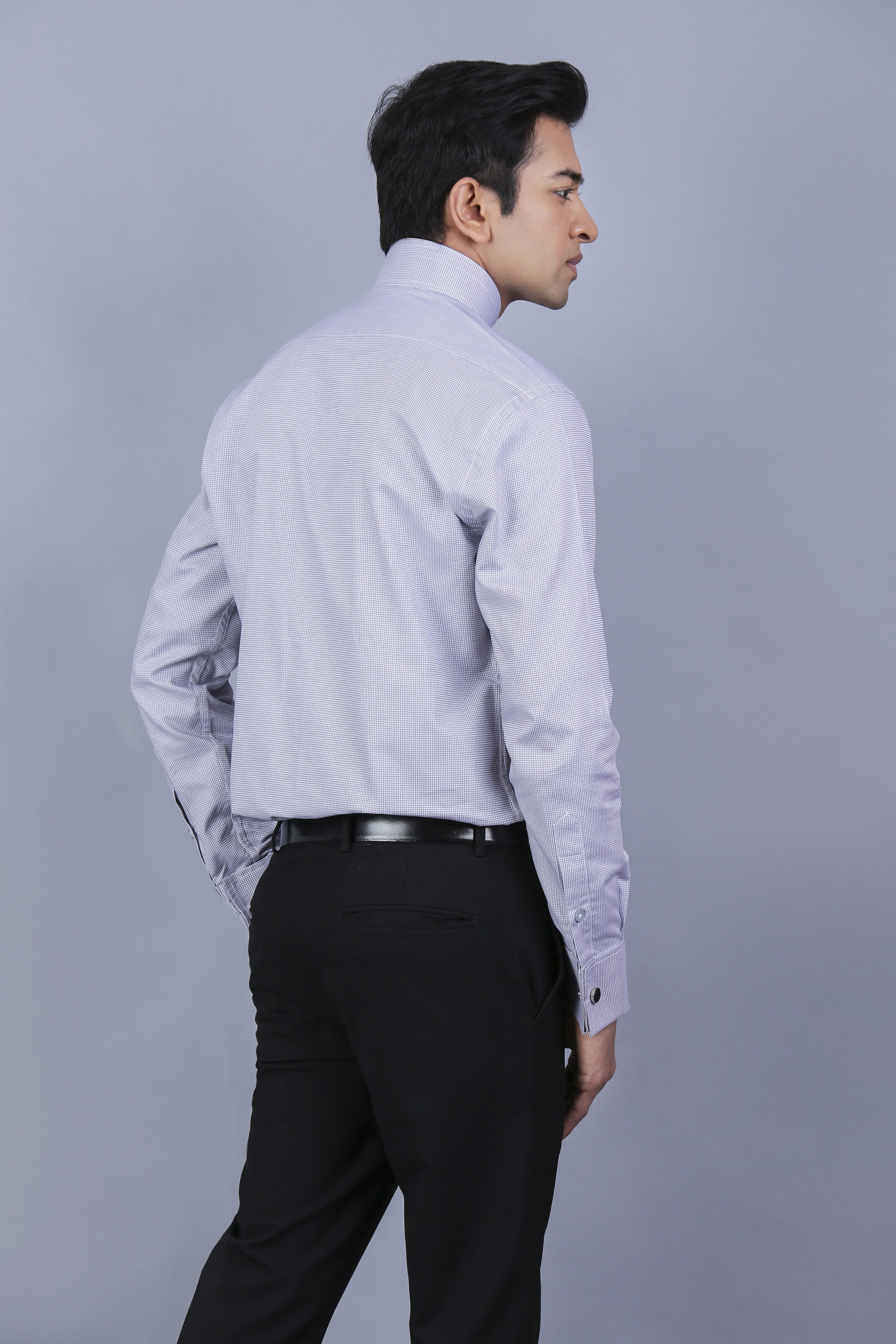 Charcoal Grey Checked Business Shirt - theshirttheory