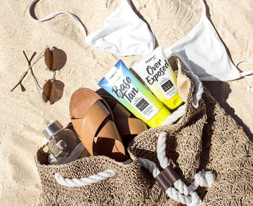 Base Tan Over Exposed Beach Bag