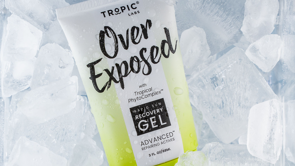 A cooling gel formula that absorbs quickly, and acts fast – with no sticky after-feel. Over Exposed helps your skin begin to recover from your sunburn immediately, and relieves you of the redness, discomfort and heat caused by UV exposure.