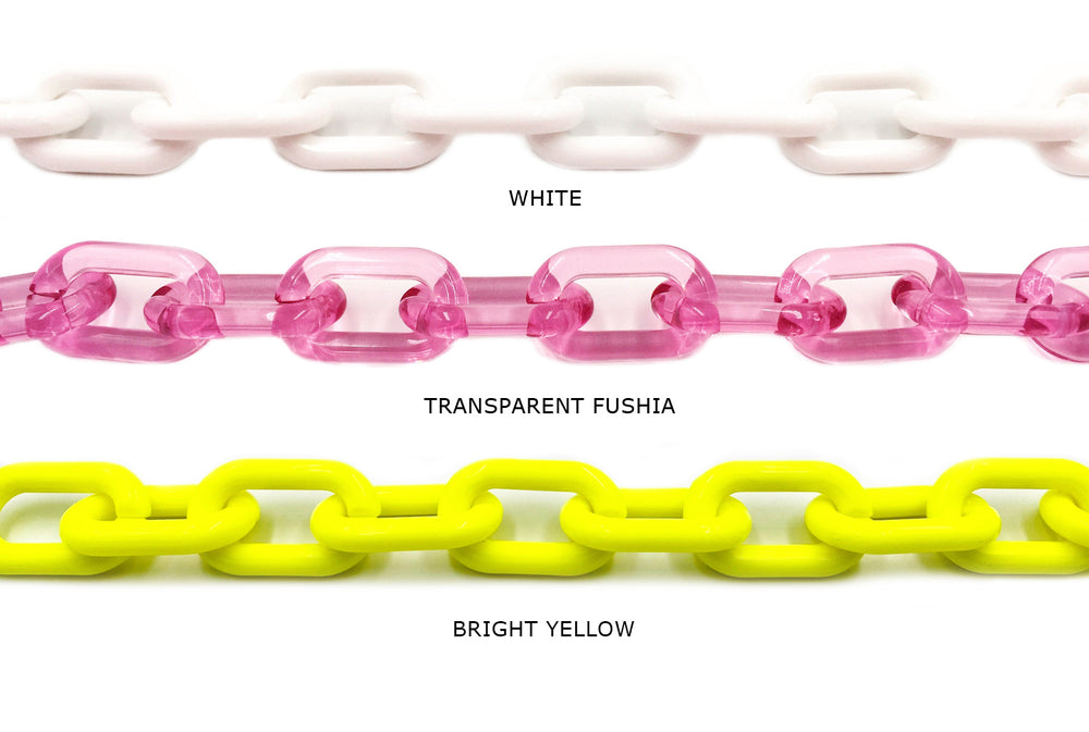 AC1009   Acrylic/Plastic Cable Chain CHOOSE COLOR BELOW