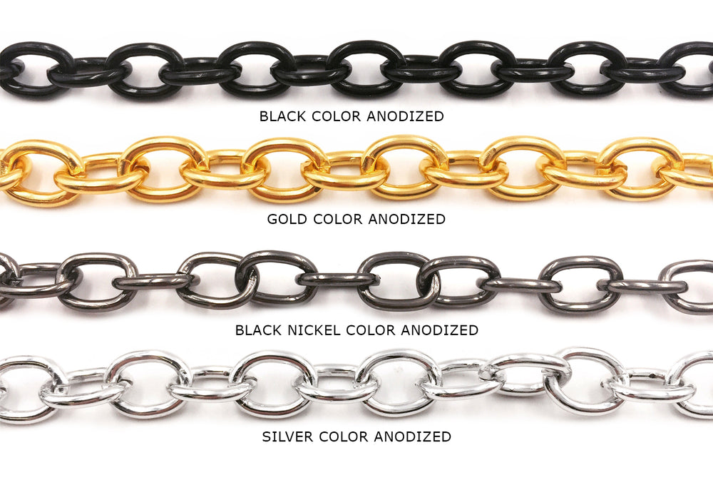 ACYF1008 Aluminum Oval Link Chain CHOOSE COLOR BELOW