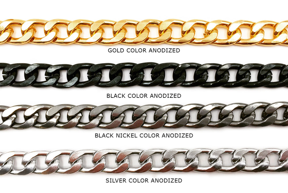ACYF1110 Aluminum Curb Chain CHOOSE COLOR BELOW