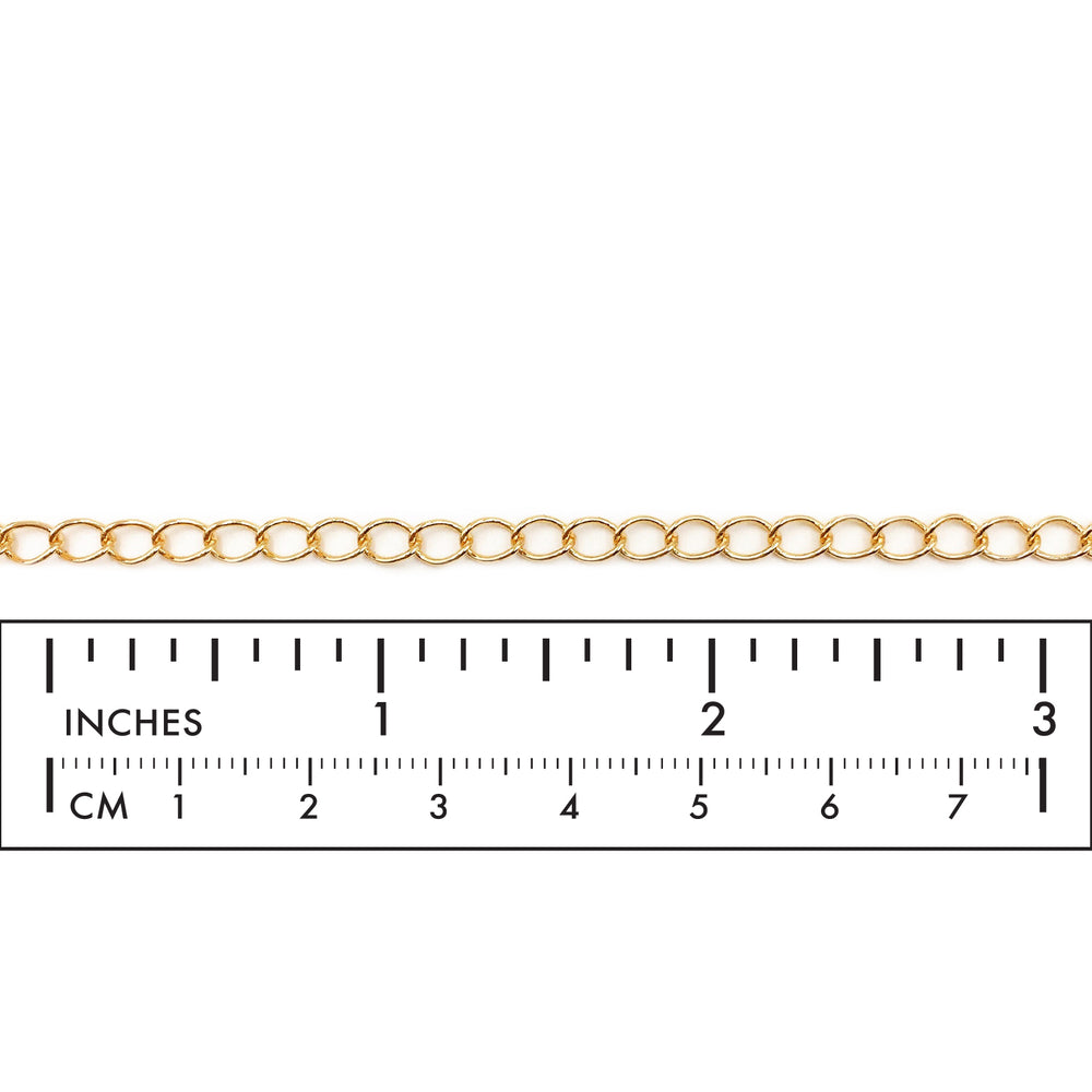 BCH1014 18 Karat Gold Plated Curb Extension Chain
