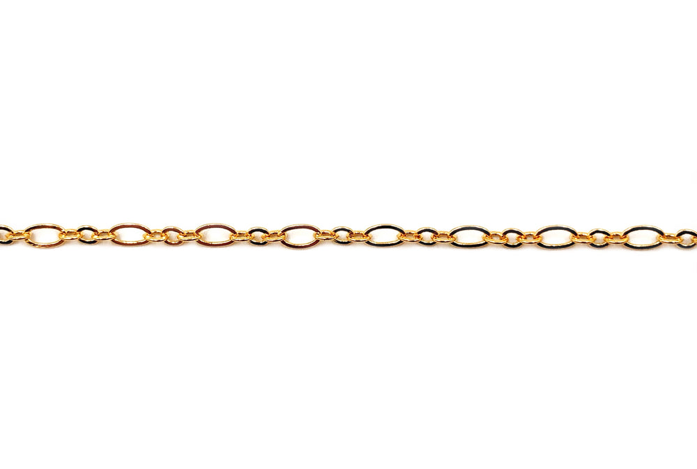 BCH1019  18 Karat Long and Short Gold Plated Chain