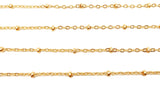 BCH1033 18 Karat Gold Beaded Ball Chain