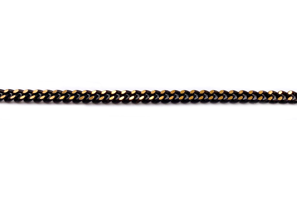BCH1043 Black & Gold Curb chain