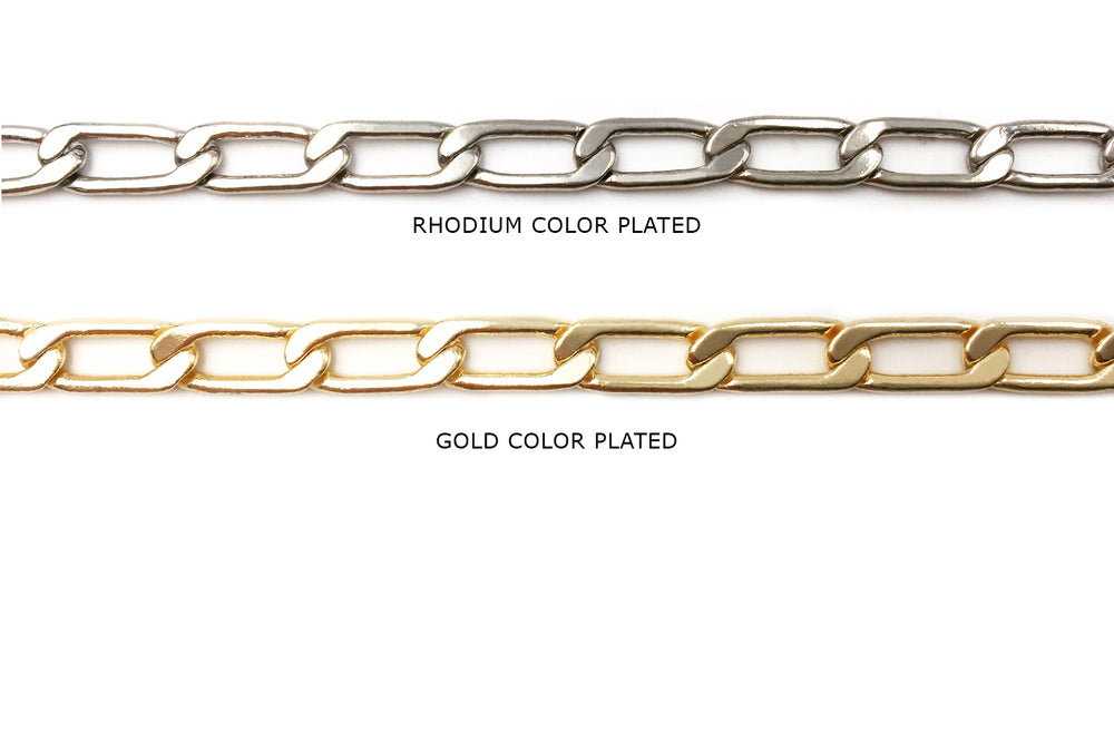 BCH1110 Flat Oval Link Chain CHOOSE COLOR BELOW