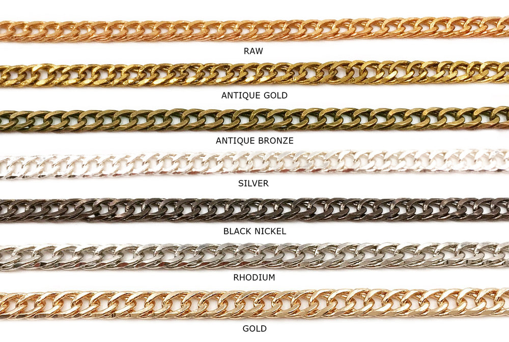 BCH1130 Curb Chain - CHOOSE COLOR FROM DROP DOWN ARROW