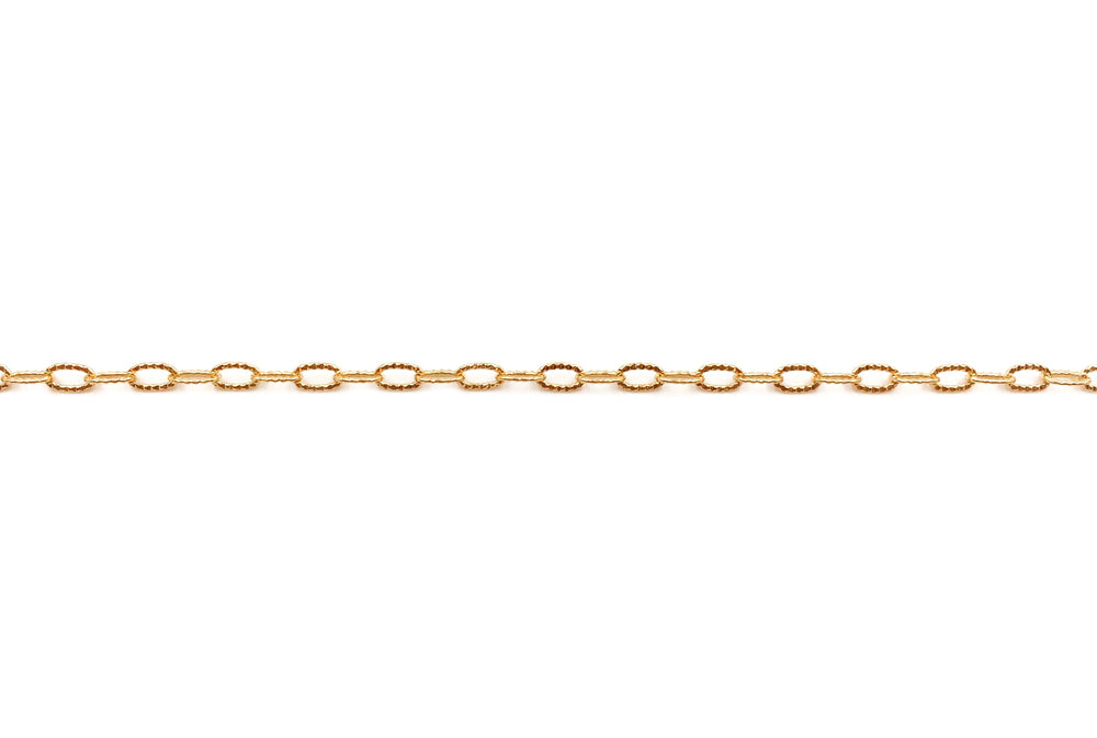 BCH1137 Textured Oval Link Chain