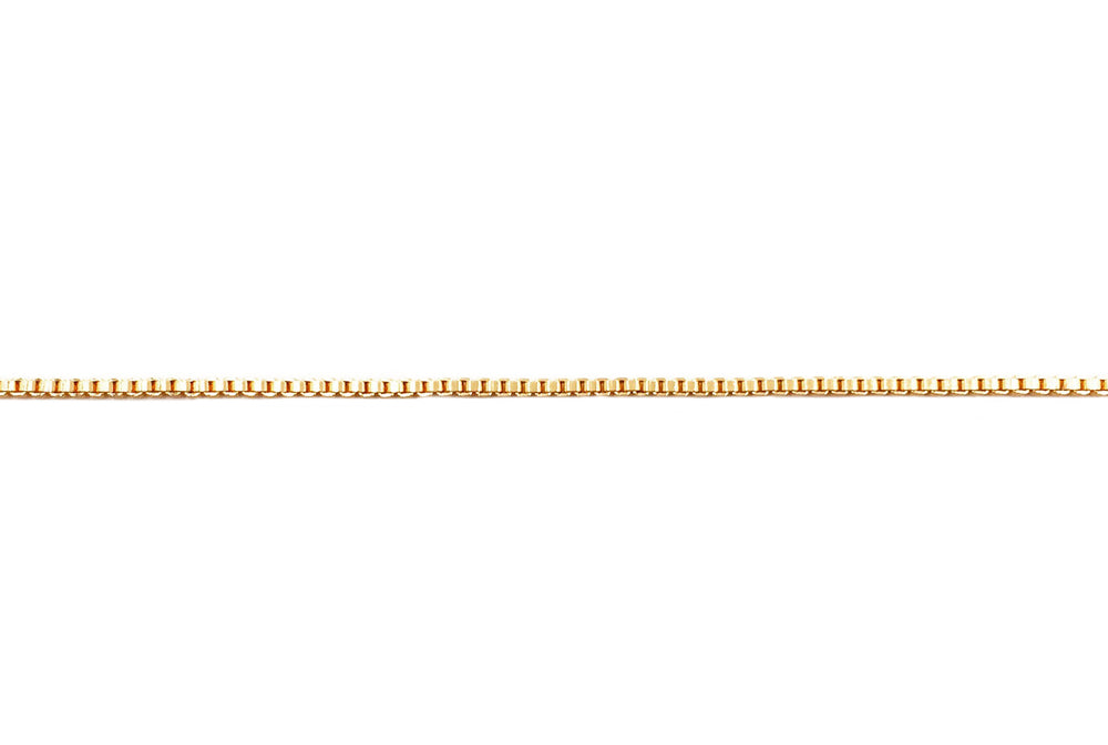 BCH1227 18 Karat Gold Plated Box Chain