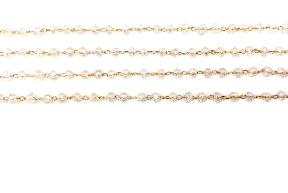 BCH1240 Faceted Crystal AB Glass Chain