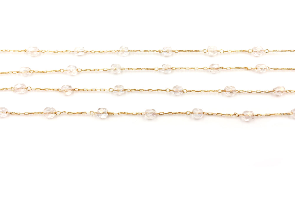 BCH1243 Faceted Glass Beaded Chain