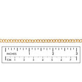BCH1255 18 Karat Gold Plated Round Link Extension Chain