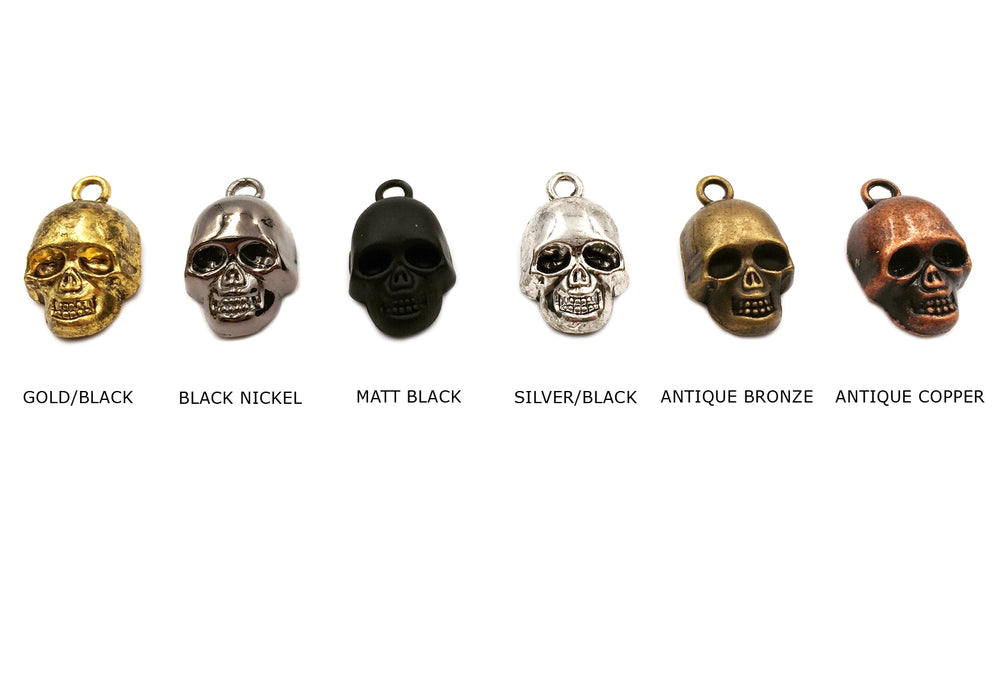 CMC1391 Skull Charm Pendant CHOOSE COLOR BELOW