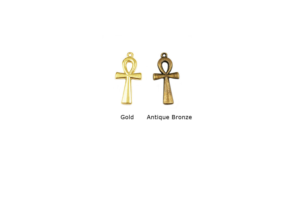 CMF1031 Egyptian Ankh Pendant/Charm CHOOSE COLOR FROM DROP DOWN ARROW