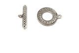 CMF1806 Round Toggle Clasp - CHOOSE COLOR FROM DROP DOWN ARROW