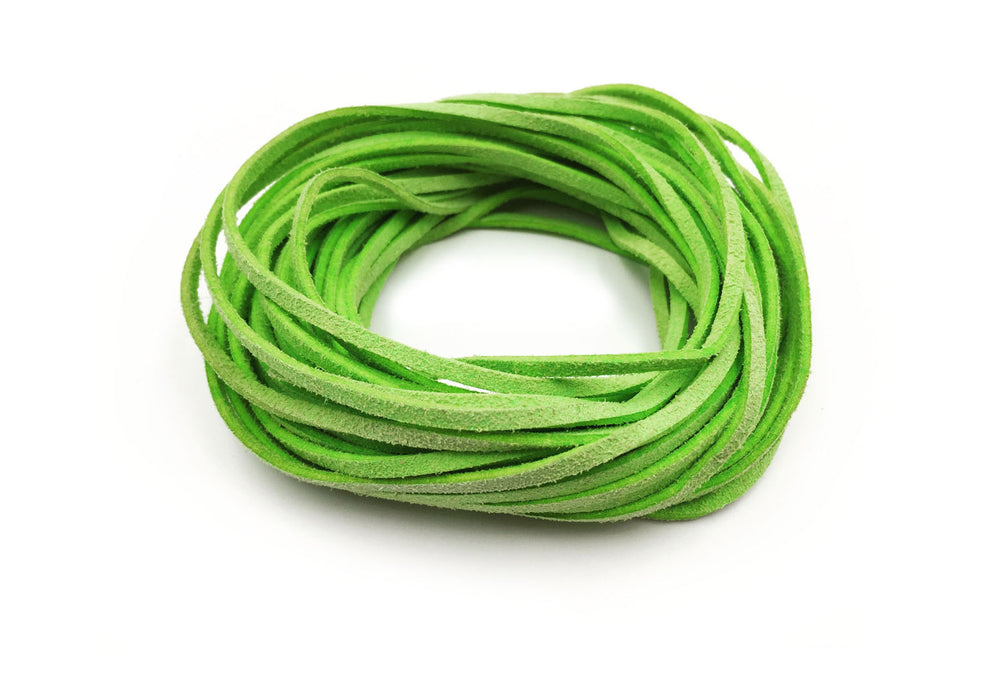 CSC1001 Lime Faux Suede Cord