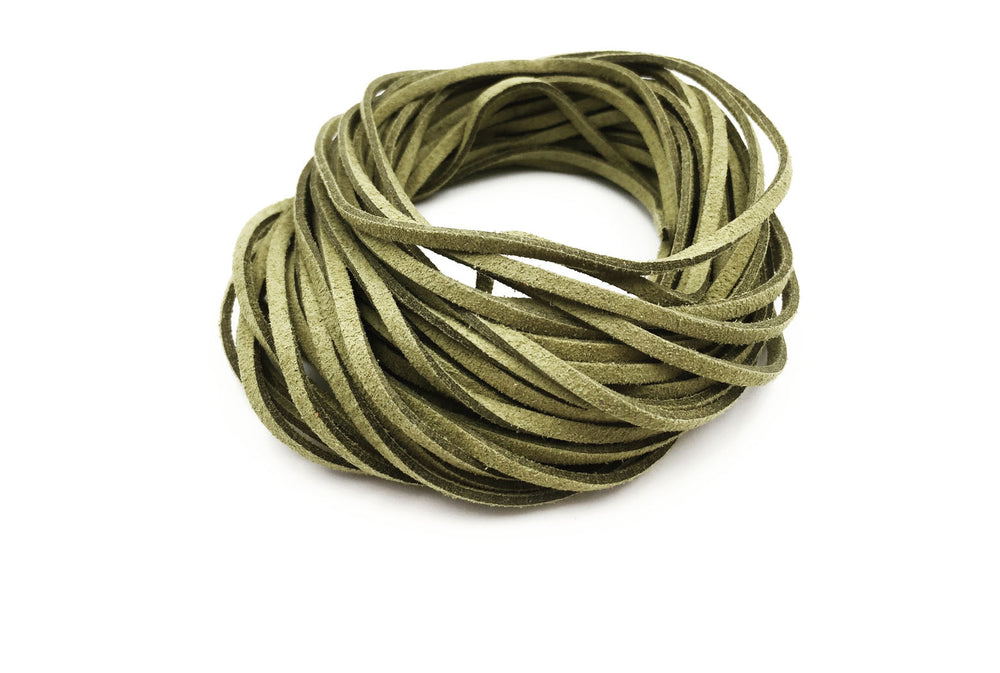 CSC1001 Olive Faux Suede Cord