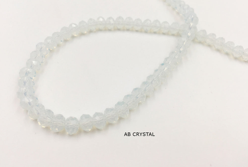 GB1718 4x6mm Faceted Chinese Crystal CHOOSE COLOR FROM DROP DOWN ARROW