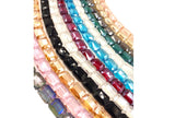 GB1759 Faceted Rectangle Crystal 13mmX18mm All Colors CHOOSE COLOR FROM DROP DOWN ARROW