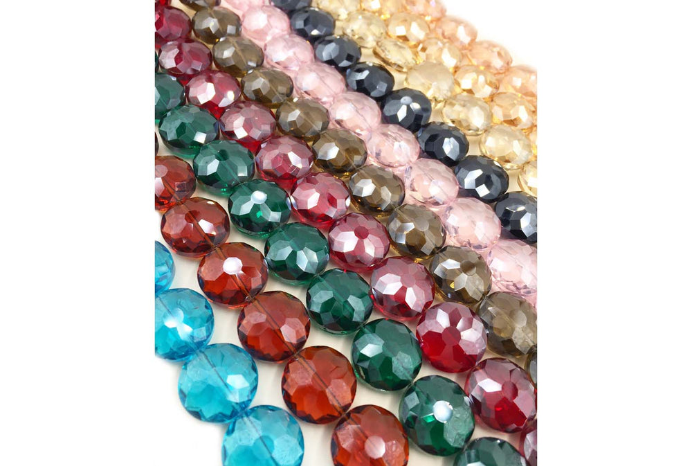 GB1760 Faceted Round Crystal 18mm All Colors CHOOSE COLOR FROM DROP DOWN ARROW