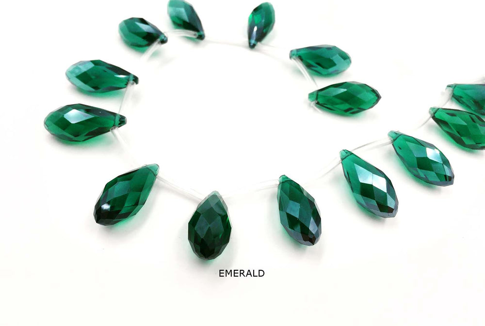 GB1761 Faceted Crystal Tear Drop 12mmX25mm All Colors CHOOSE COLOR FROM DROP DOWN ARROW