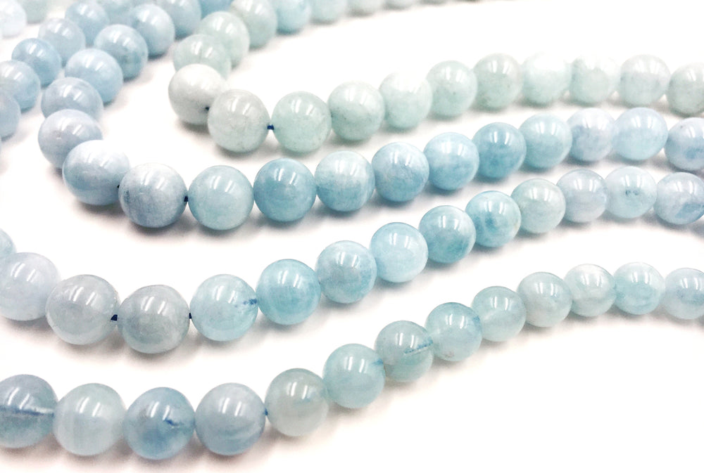 GS1020 Aquamarine Gemstone 9mm, 10mm, 11mm, 12mm