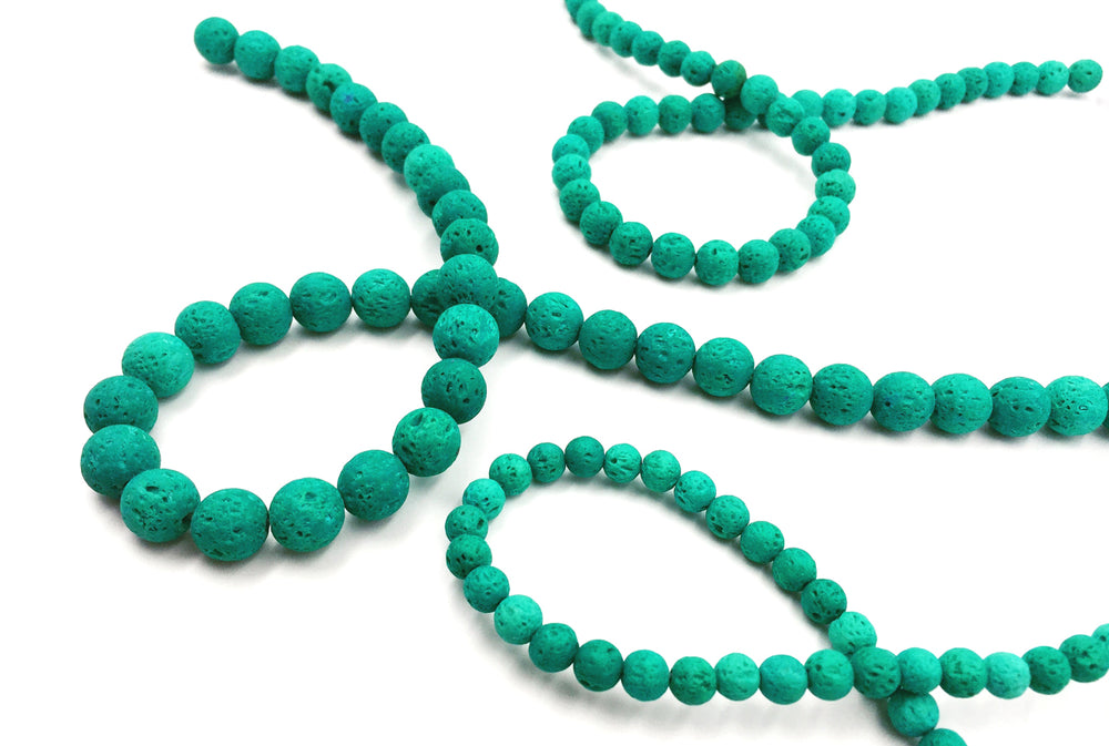 GS1562 Sea Turquoise Lava Bead CHOOSE SIZE BELOW