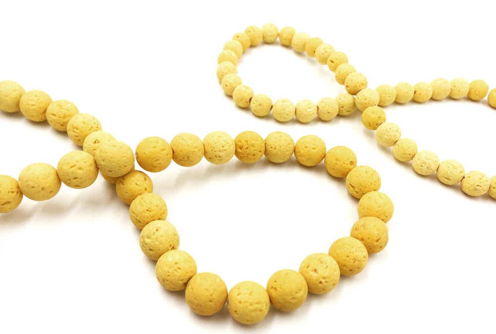 GS1562 Yellow Lava Bead CHOOSE SIZE BELOW