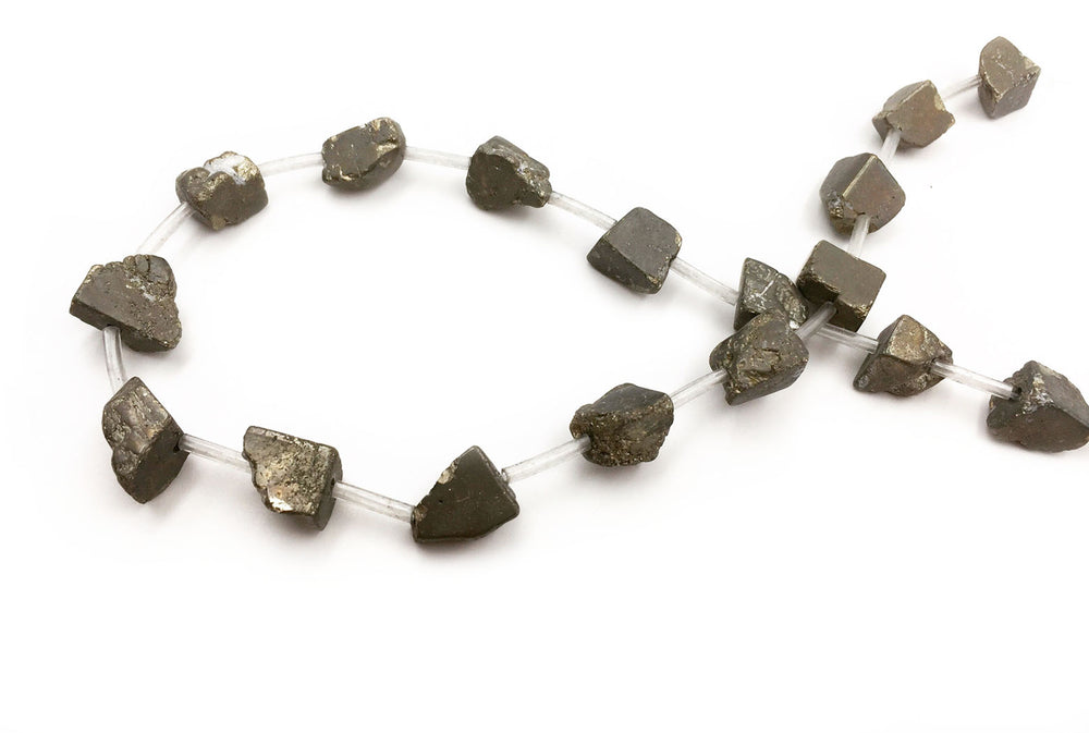 GS2353.39  Irregular Pyrite Gemstone 8mm X 10mm