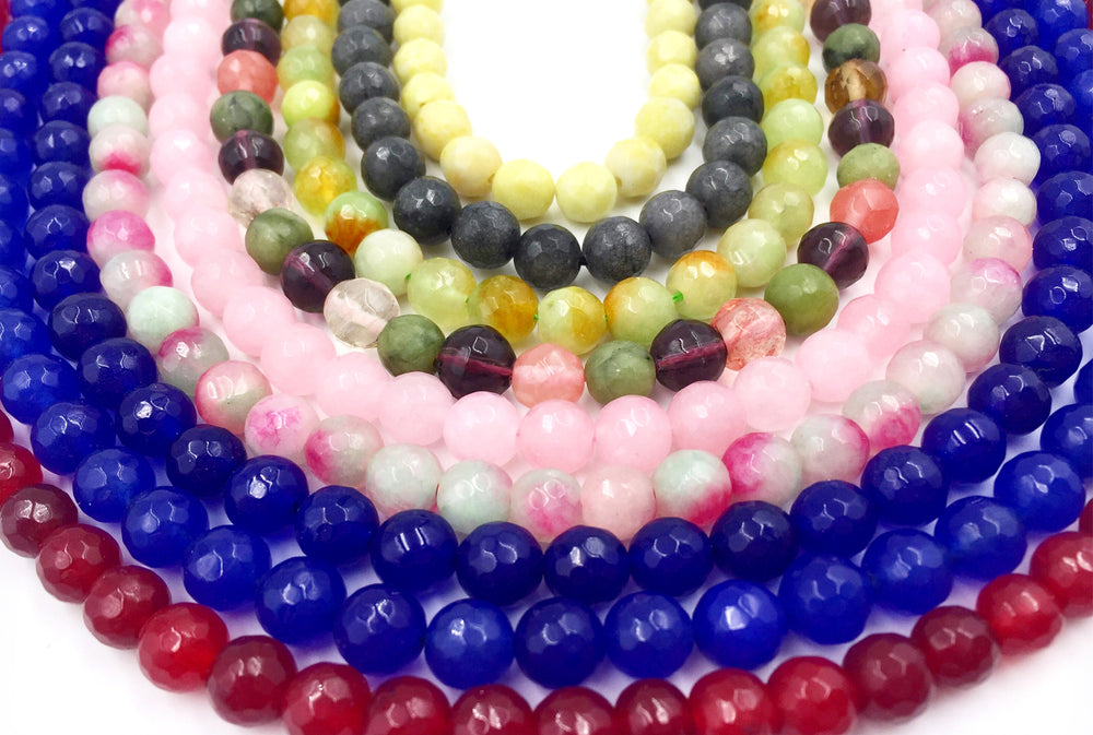GSA1078-05 Faceted Gemstone 8mm CHOOSE COLOR BELOW