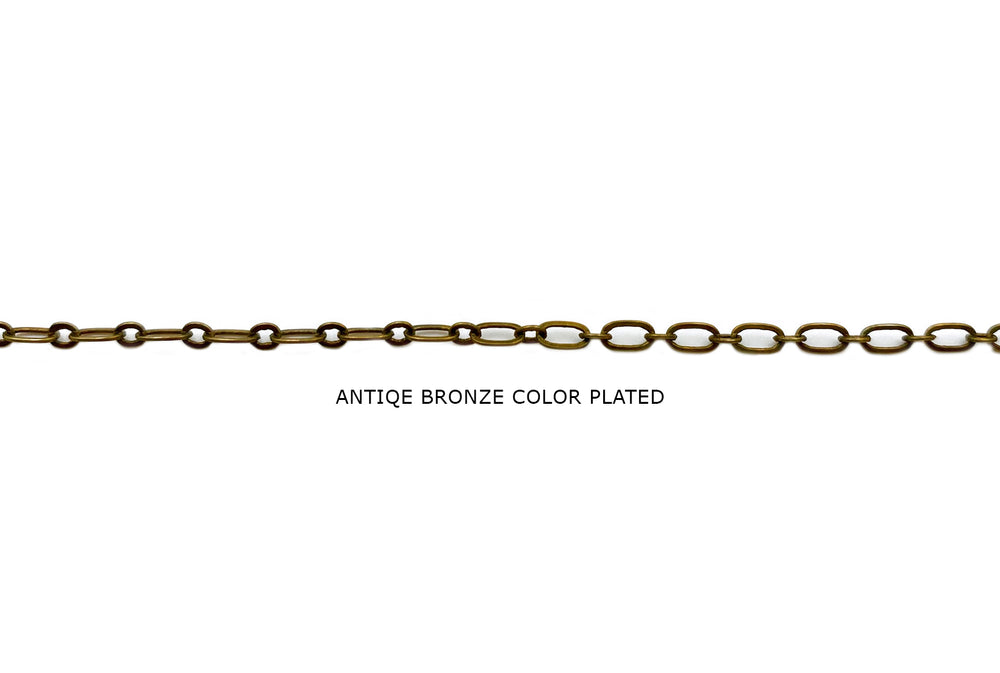 MC1109  Short & Long Oval Link Chain