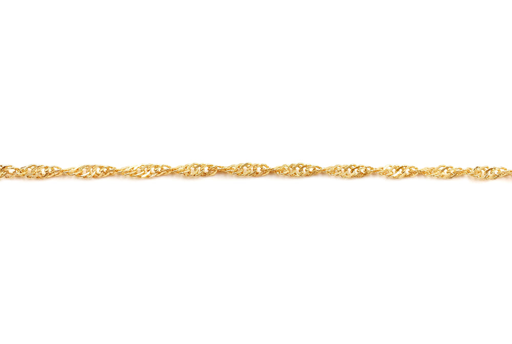 MCQYDH125  18 Karat Gold Plated Loose Rope/Prince of Wales Chain