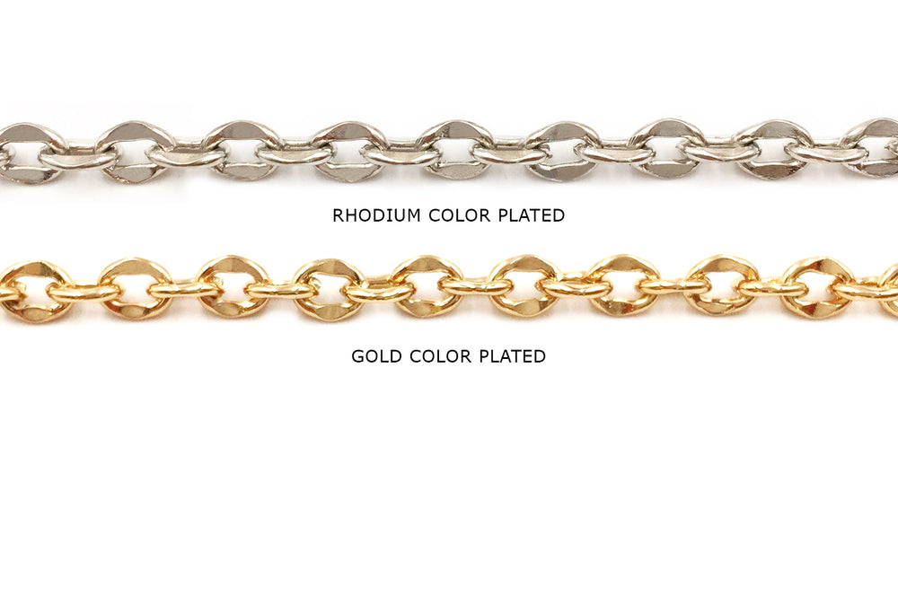 MCSX-SH333 Flat Oval Link Chain CHOOSE COLOR BELOW
