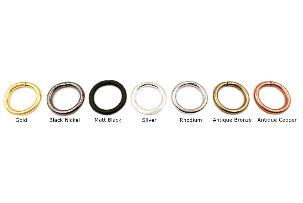 MP2239 Steel Ring 20mm X 3.7mm CHOOSE COLOR BELOW