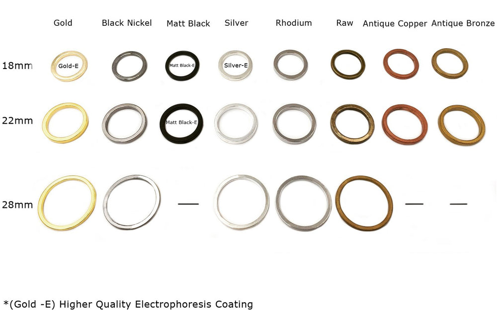 MP2858 Flat Round O Ring/Pendant CHOOSE COLOR & SIZE BELOW