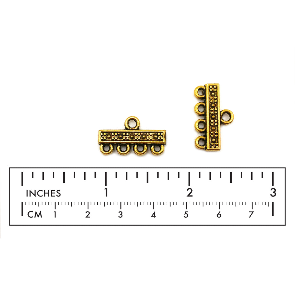 MP2879 Four Strand Bar Clasp CHOOSE COLOR BELOW