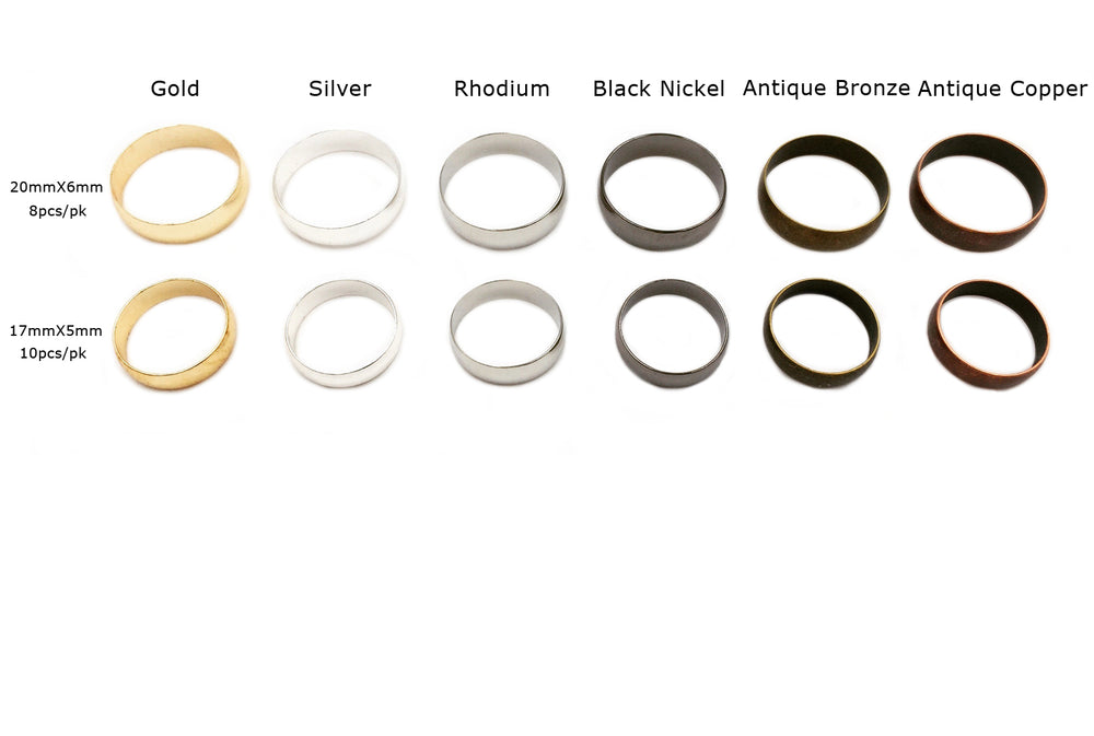 MP3392-3 Solid Round Ring CHOOSE COLOR/SIZE BELOW