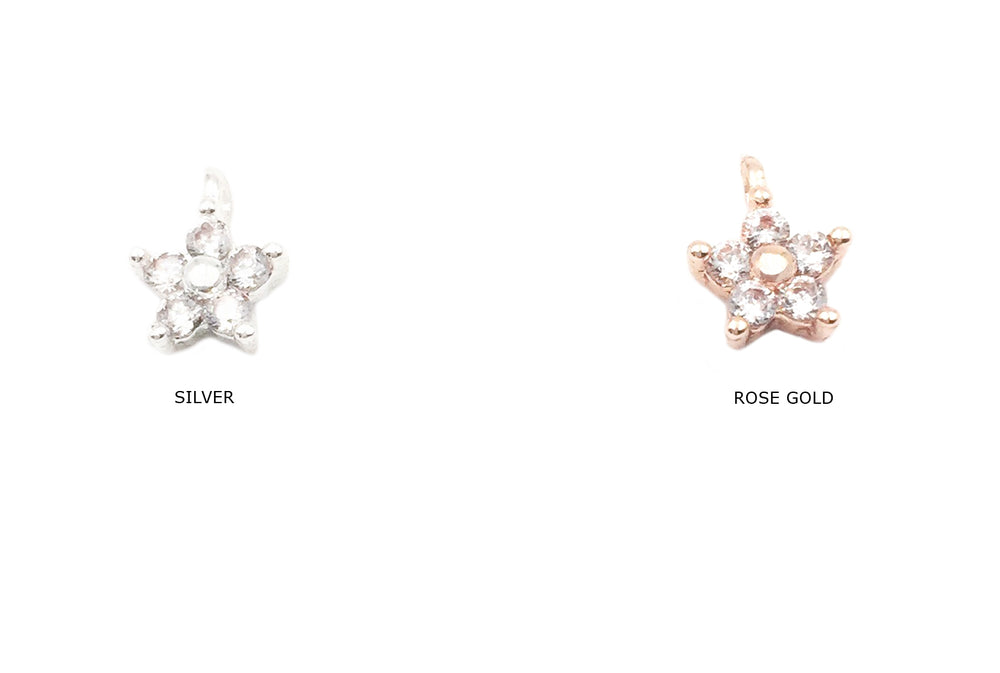 MP3604 Tiny Cubic Zirconia Star Charm