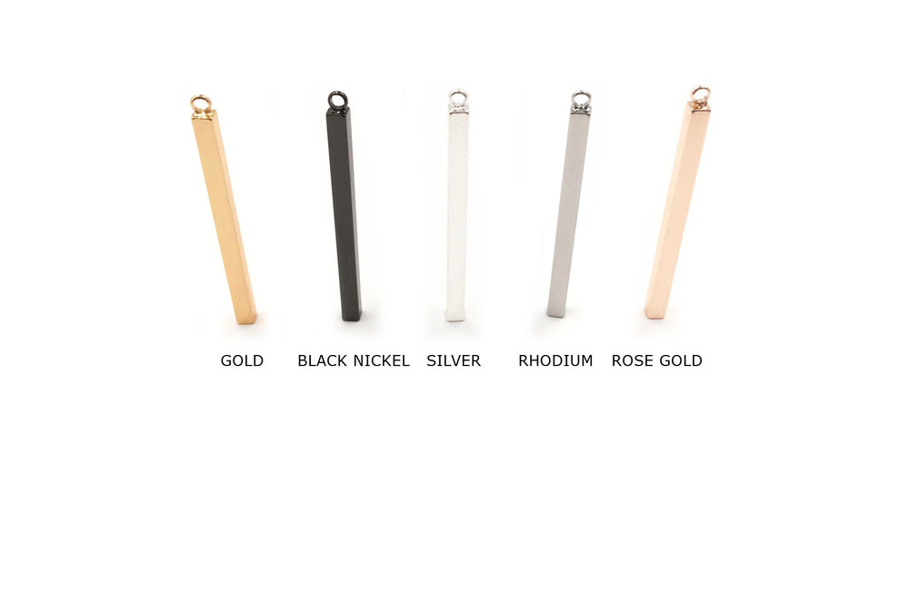MP3659SR 3mm x 40mm Rectangle  Bar Pendant