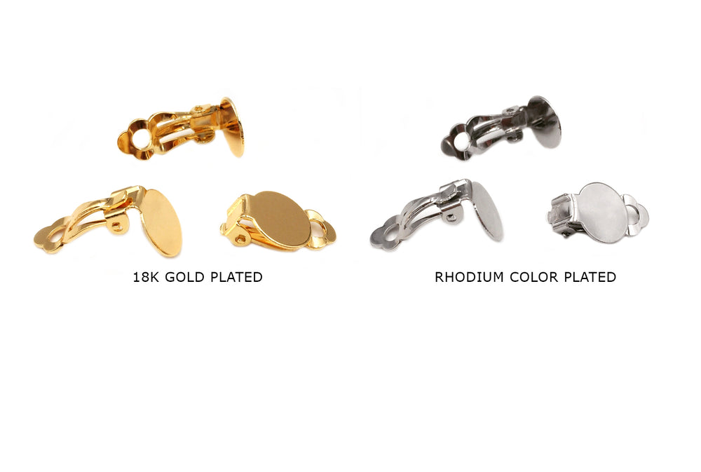 MP3828 Clip On Earring Backing 9mm CHOOSE COLOR BELOW
